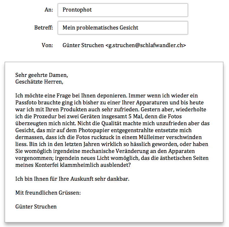 Anfrage Prontophot