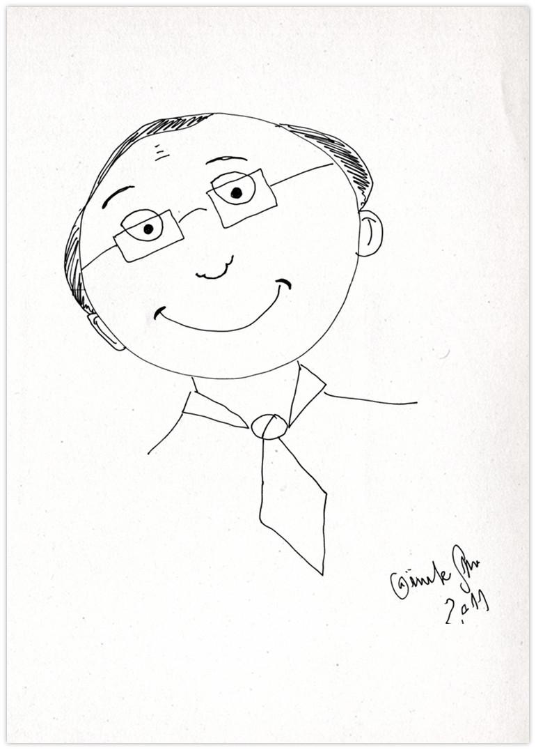 Blocher Zeichnung