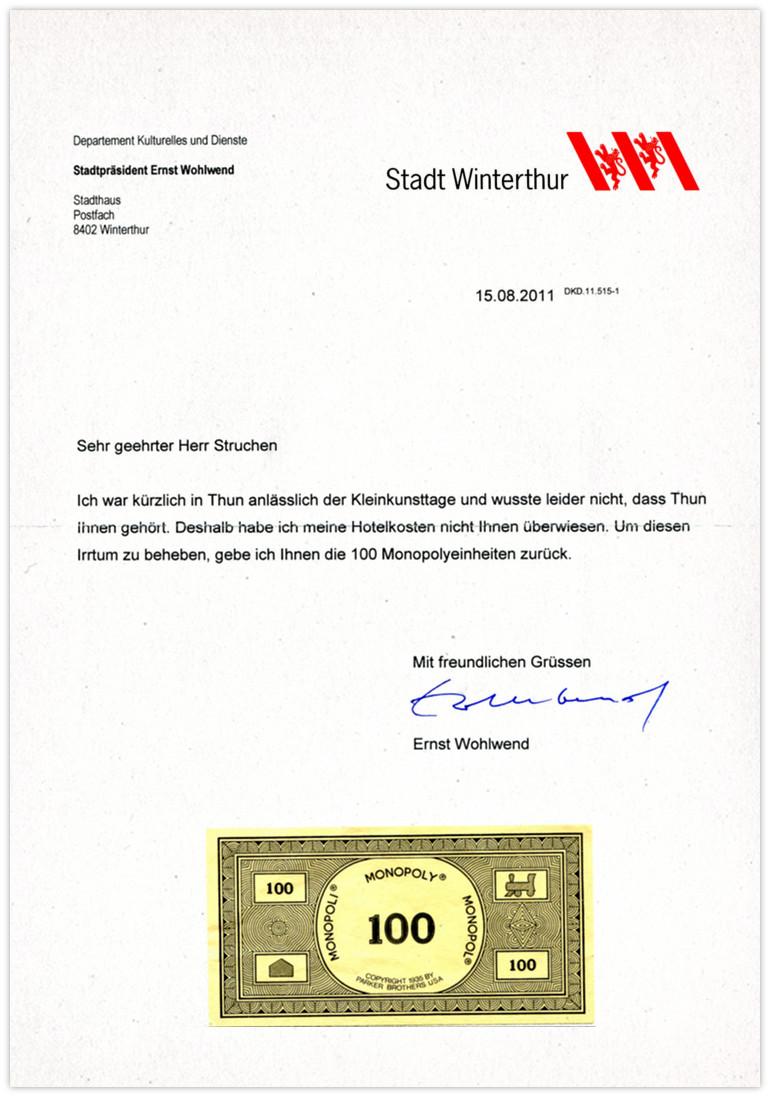 Winterthur Anwort