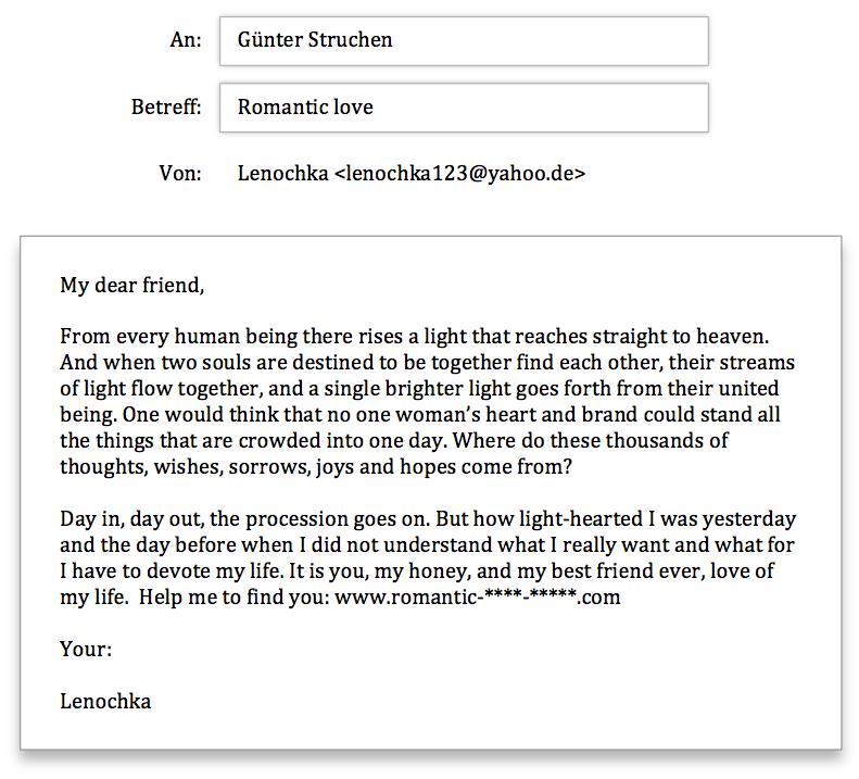 Anfrage Lenochka