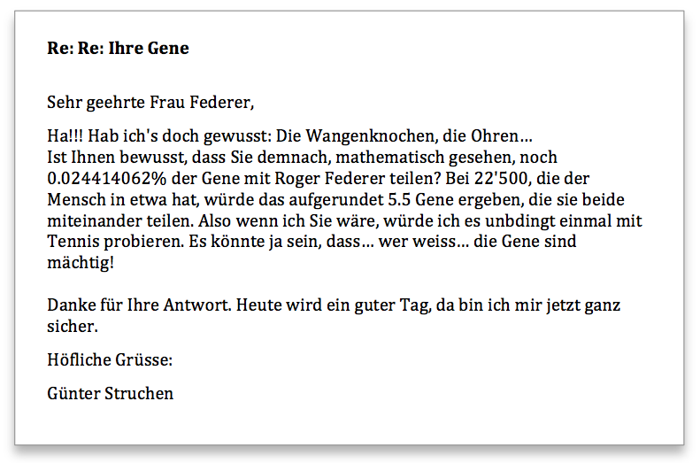 Federer Antwort 2