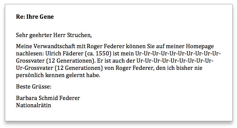 Federer Antwort