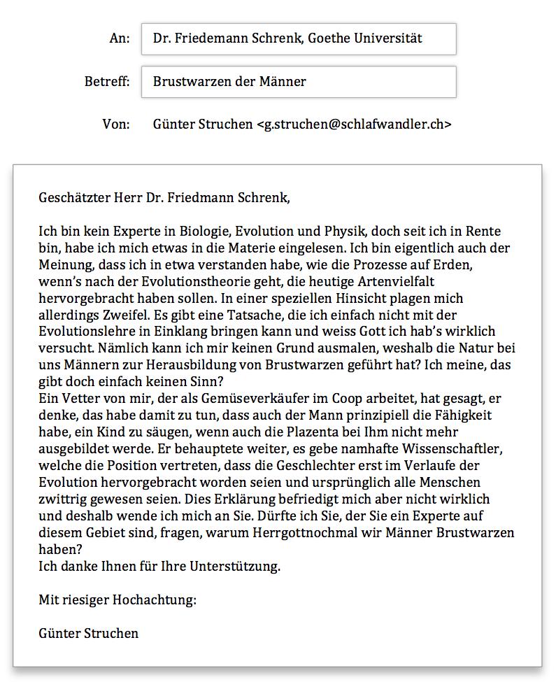 Anfrage Goethe Universität