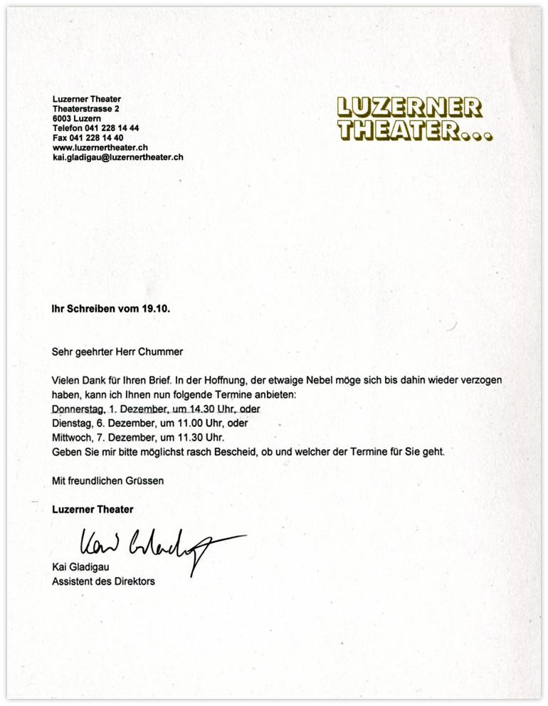 Theater Luzern Antwort 3