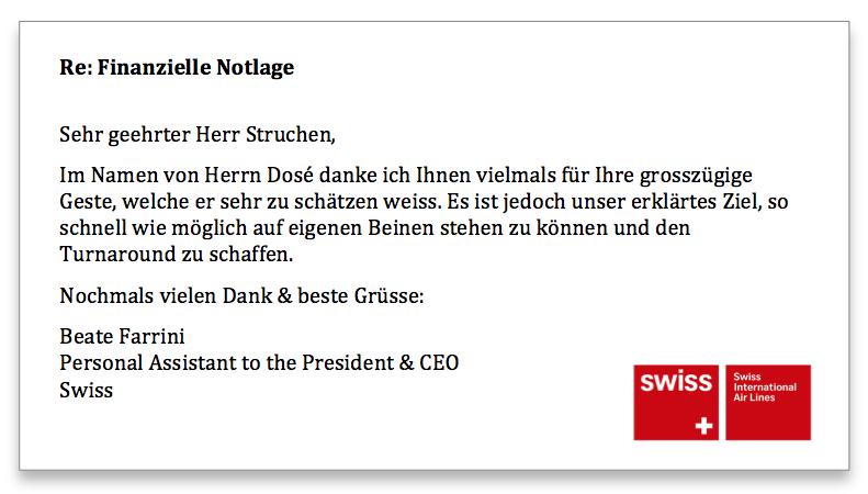 Swiss Antwort