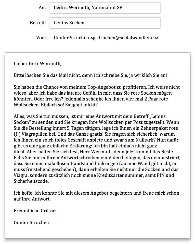 Wermuth Anfrage