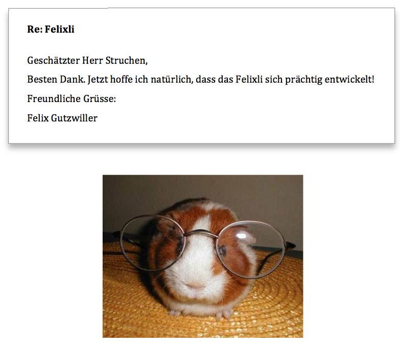 Felix Gutzwiller Antwort