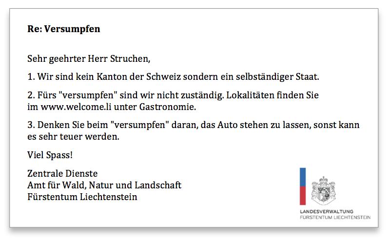 Liechtenstein Anfrage 2
