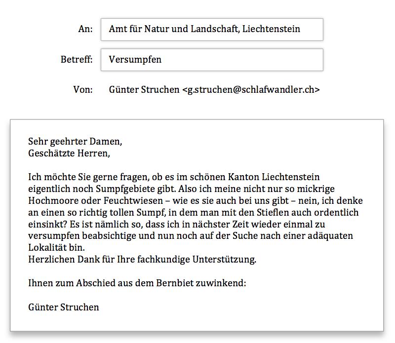 Liechtenstein Anfrage