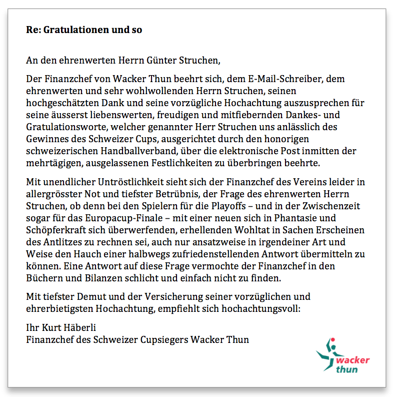 Wacker Thun Antwort 2