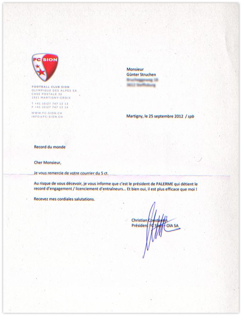 Constantin Antwort