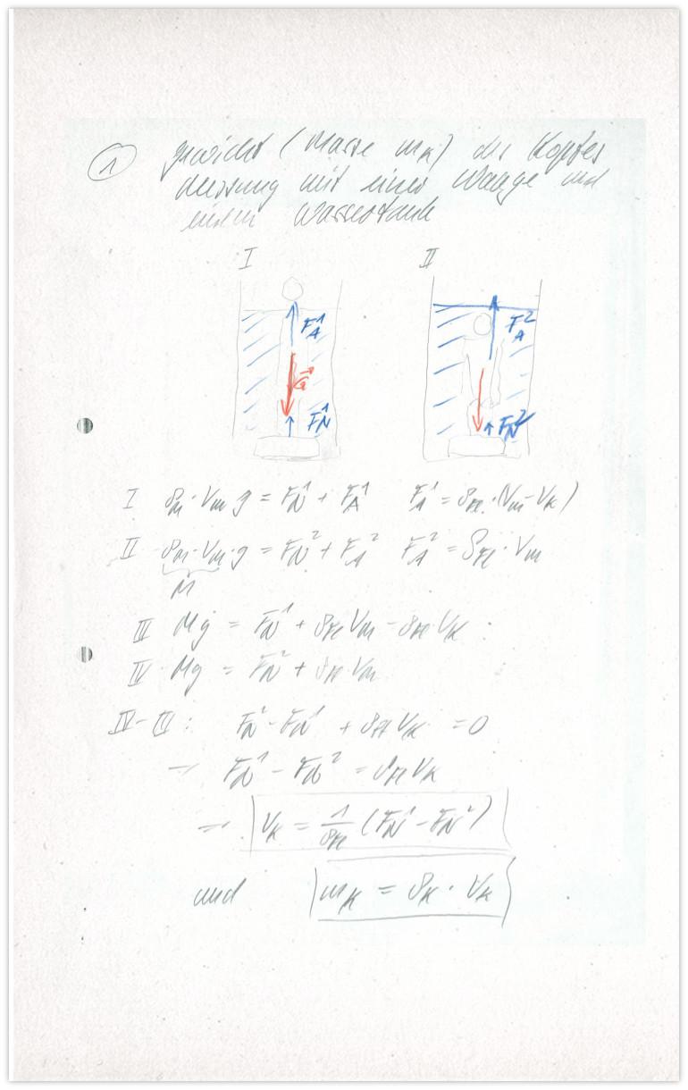 Kopfgewicht Antwort 2