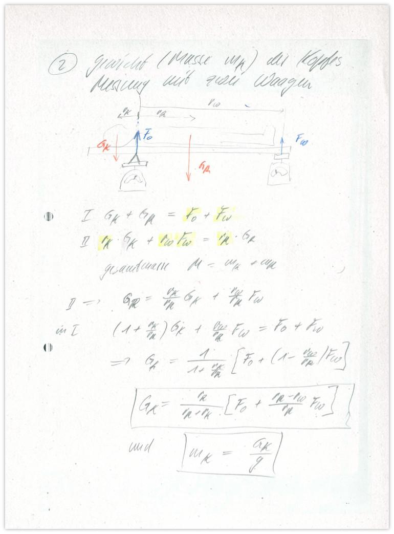 Kopfgewicht Antwort 3