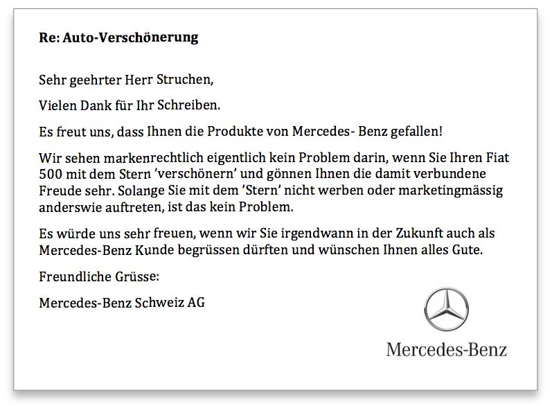 Mercedes Antwort