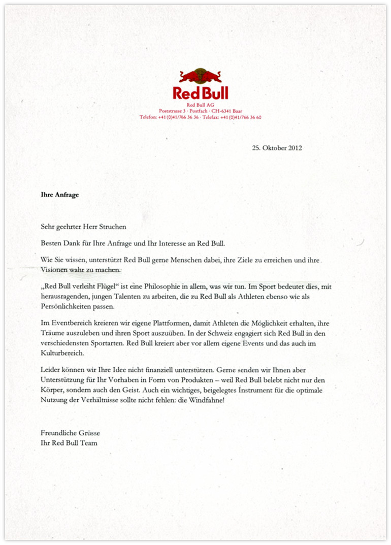 Red Bull Antwort