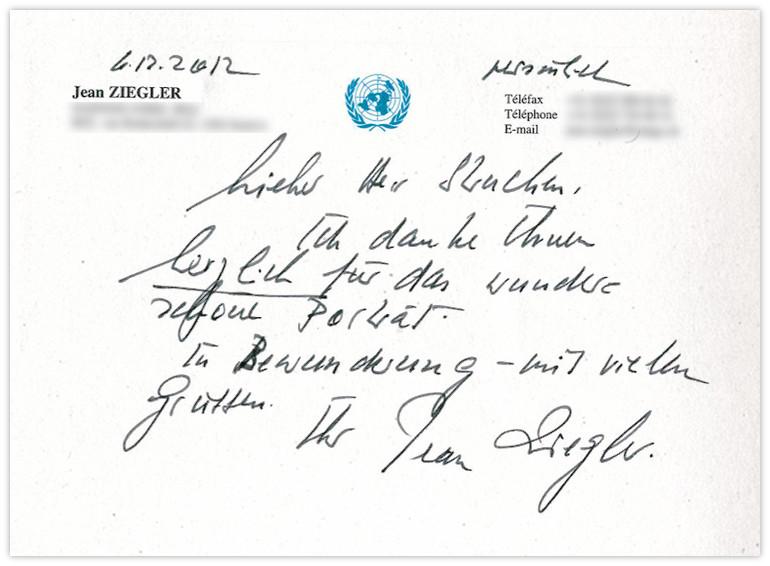 Jean Ziegler Antwort