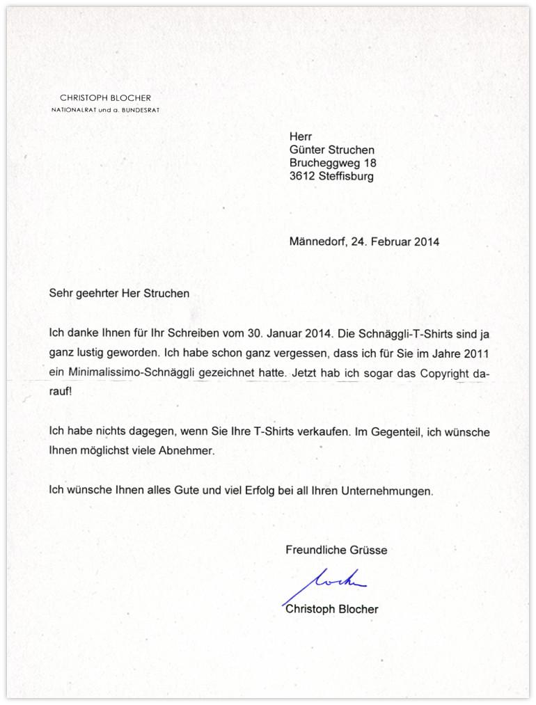 Blocher-Antwort