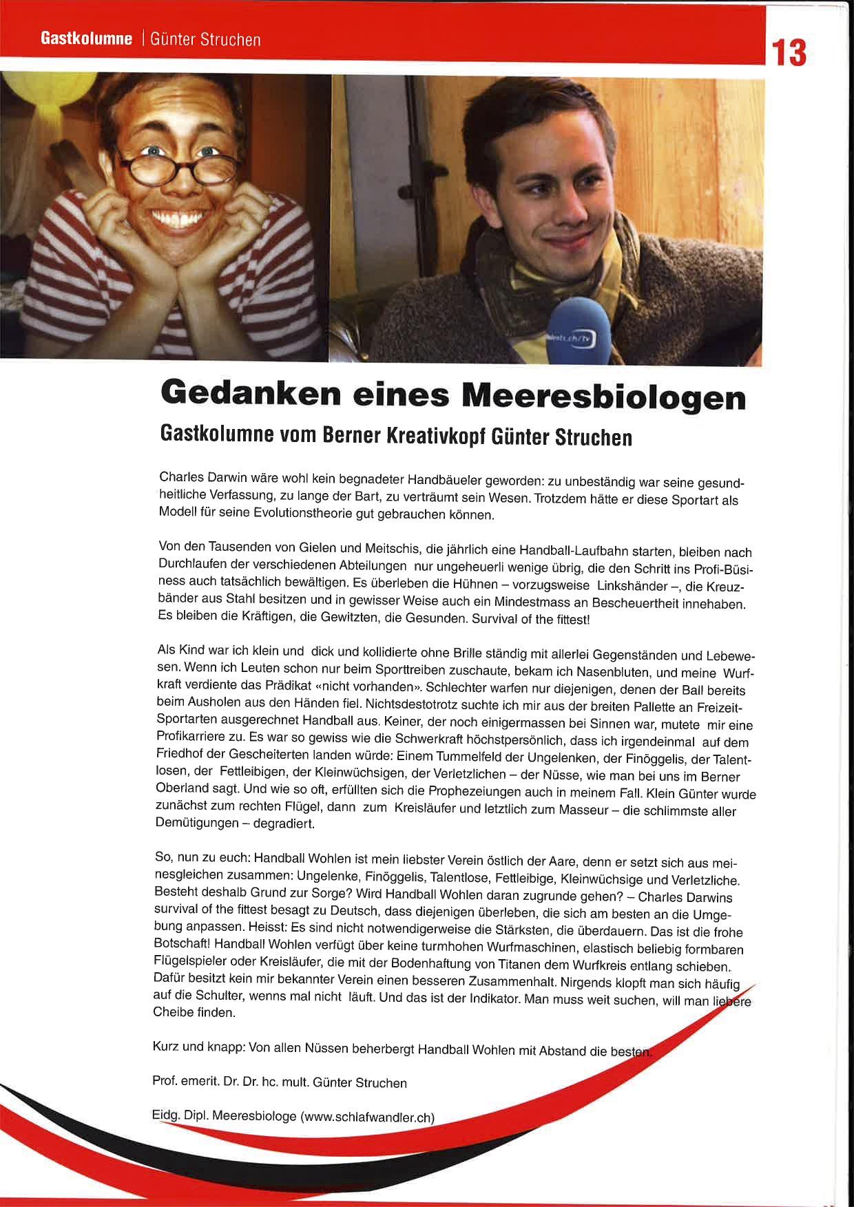 Gägestoss - Kolumne - Meeresbiologe - Seite 2