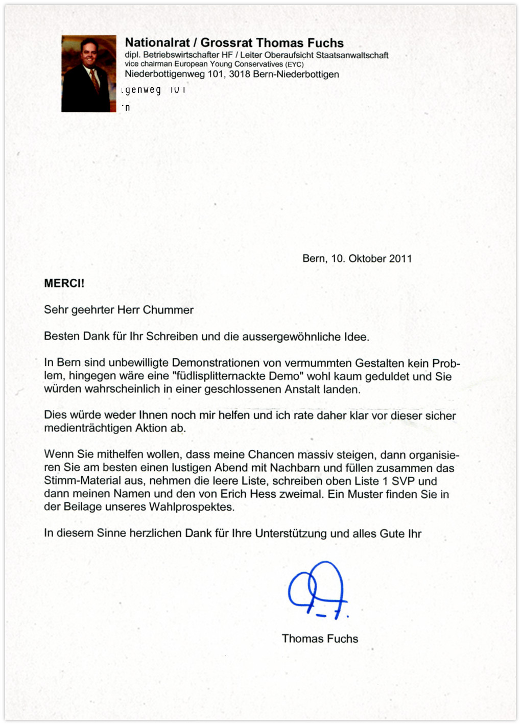 Thomas Fuchs - Antwort